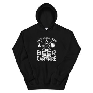 Camping Hoodie Beer Campfire Graphic Tent3