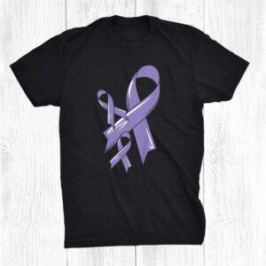 Cancer Awareness Ribbon Cancer Fighter Chemo Lavender Shirt
