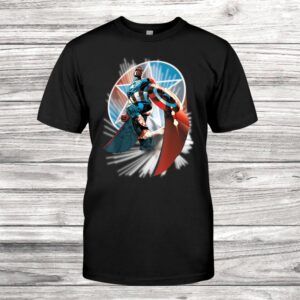 Captain America Hands Helm To Falcon Marvel Now Shirt