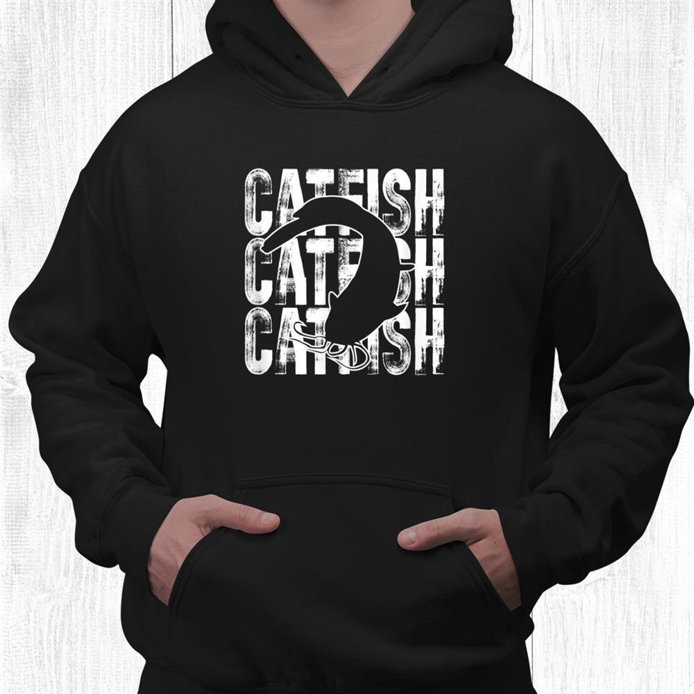 Catfish Word Theme Fish Lover Fishing Shirt