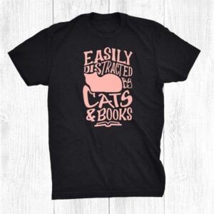 Cats And Books Cute Kitty Reading Shirt
