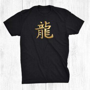 Chinese Zodiac Year Of The Dragon Written In Kanji Character Shirt
