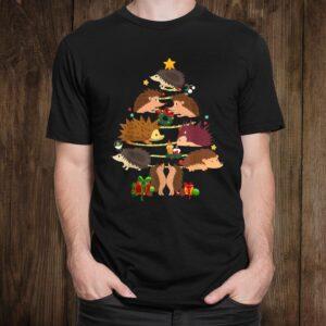 Christmas Cute Funny Hedge Hog Christmas Tree Shirt