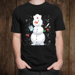 Christmas Snowman Nurse Shirt