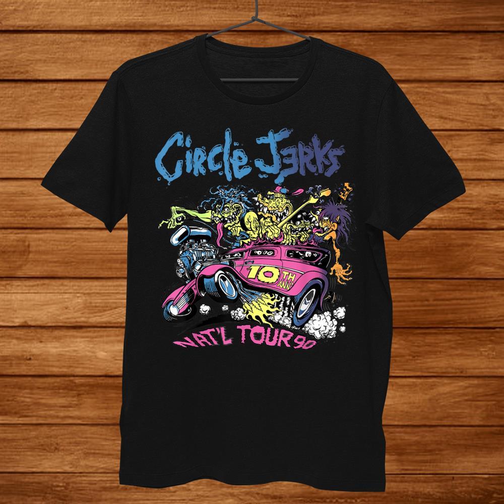 Circle Jerks 91 Tour Illustration Shirt