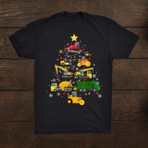 Construction Excavator Christmas Tree Excavation Lovers Shirt