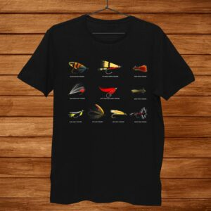 Cool Flyer Fisherman Shirt Fly Fishing Lures Shirt