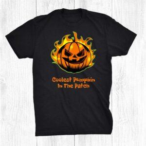 Coolest Pumpkin In The Patch Funny Halloween Men Dad Shirt