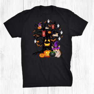 Corgi Dog Witch Scary Tree Halloween Costume Dog Lover Funny Shirt