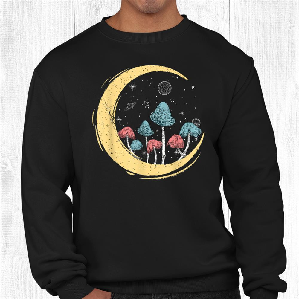 Cottagecore Aesthetic Mushroom Moon Goblincore Hippie Boho Shirt