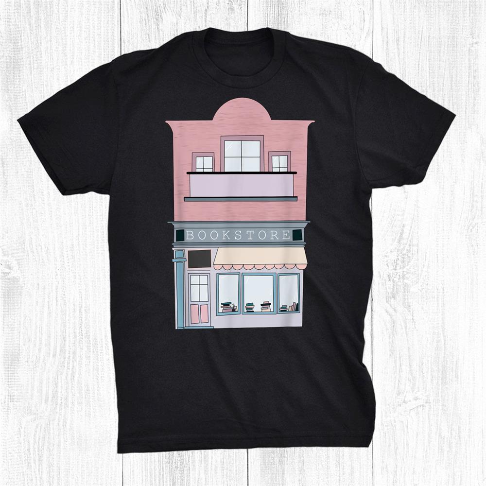 Cozy Bookstore Building Reading Shirt