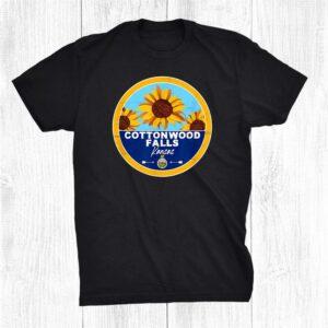 Cute Cottonwood Falls Kansas Ks Sunflower Badge Shirt