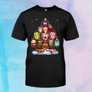 Cute Cute Owls Christmas Tree Shirt