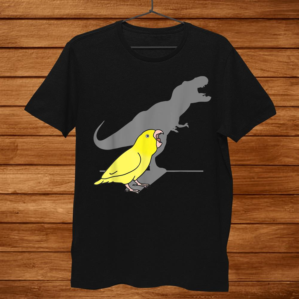 Cute Dinosaur Parrot Funny Bird T Rex Yellow Parrotlet Shirt