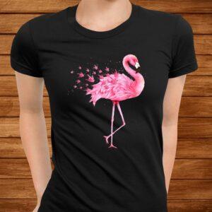 cute flamingo i love you asl american sign language t shirt Men 3