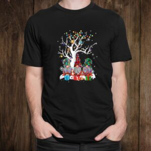 Cute Gnome Buffalo Plaid Christmas Tree Light Ugly Santa Hat Shirt