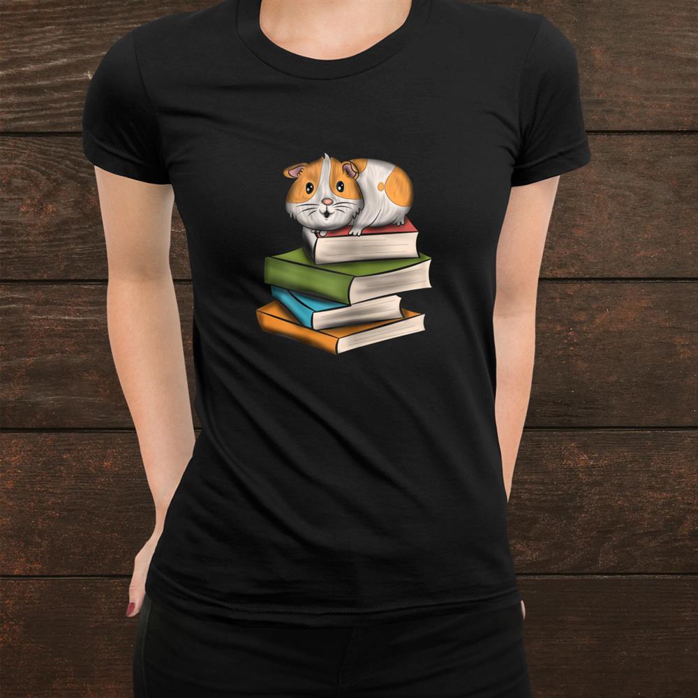 Cute Guinea Pig Animals Reading Books Pet Funny Shirt