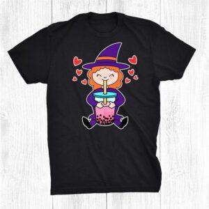 Cute Kawaii Anime Witch Drinking Boba Tea Shirt