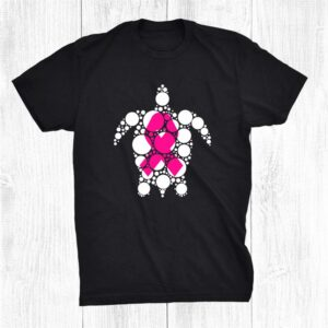 Cute Turtle Breast Cancer Awareness Pink Ribbon Turtle Lover Shirt