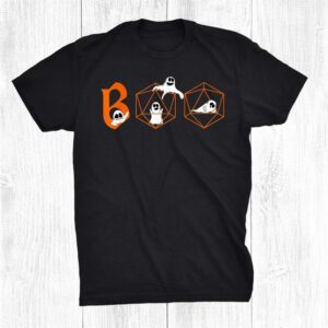D20 Rpg Dragons Tabletop Gift Boo Ghost Dice Halloween Shirt