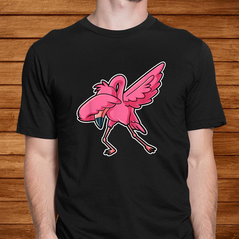Dabbing Flamingo Dab Funny Gift Idea Kids Cute Shirt