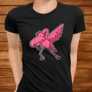 dabbing flamingo dab funny gift idea for men women kids cute t shirt Men 3