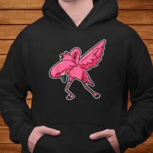 dabbing flamingo dab funny gift idea for men women kids cute t shirt Men 4