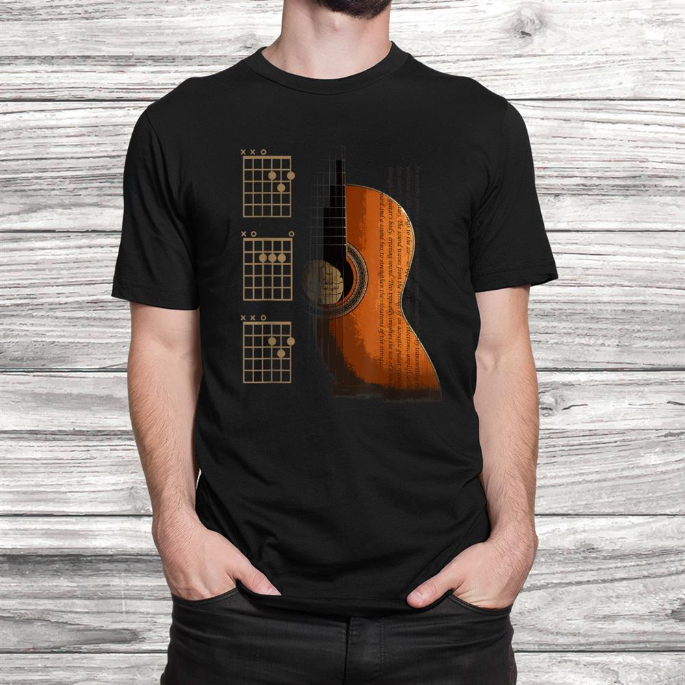 Dad Chords Acoustic Guitar For The Guitarist Shirt