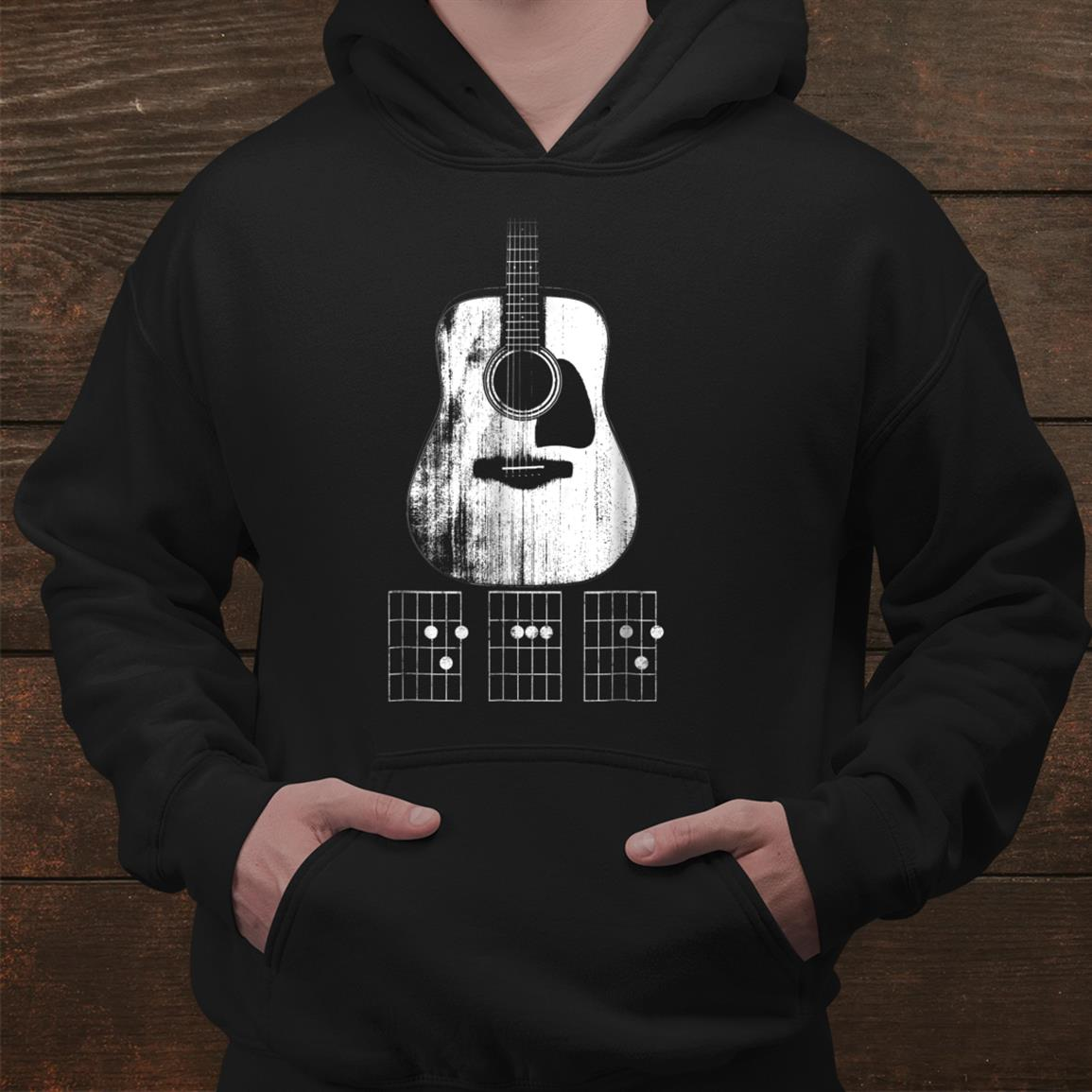 Dad Chords Acoustic Guitar Shirt Guitar Player Shirt