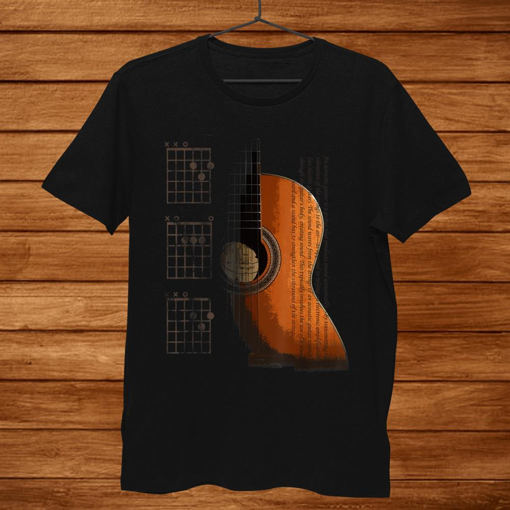 Dad Chords Acoustic Guitar Shirt