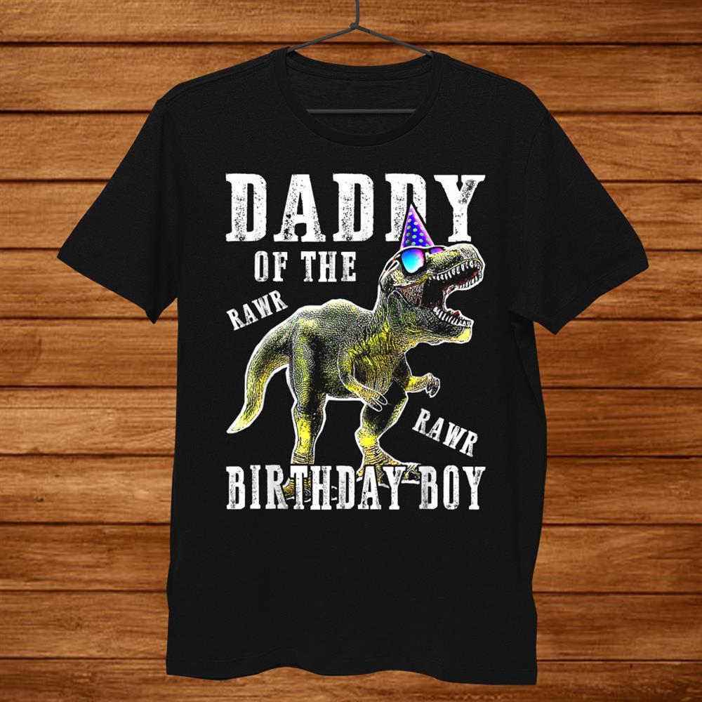 Daddy Dinosaur Shirt Funny Cute Birthday Boy Family Shirt