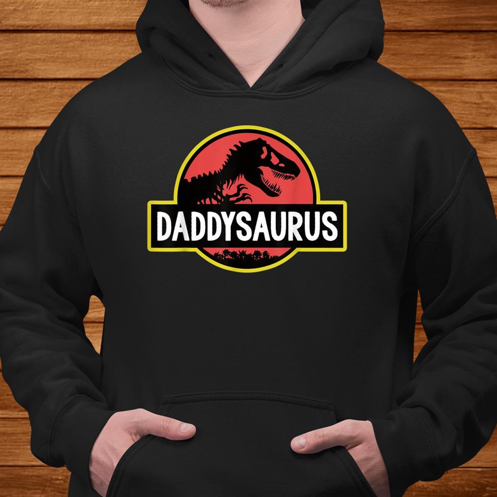 Daddysaurus Dad Husband Gift Matching Dinosaur Shirt