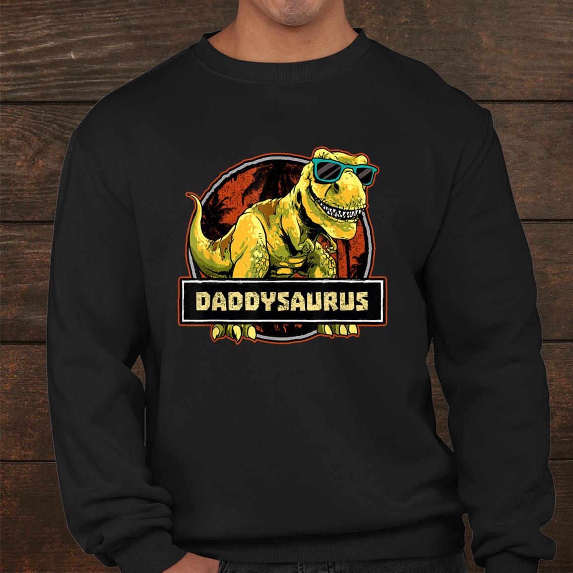 Daddysaurus T Rex Dinosaur Daddy Saurus Shirt