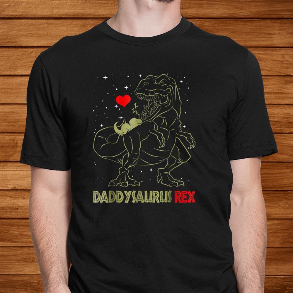 Daddysaurus Shirt Dinosaur Gifts T Rex Daddy Saurus Shirt