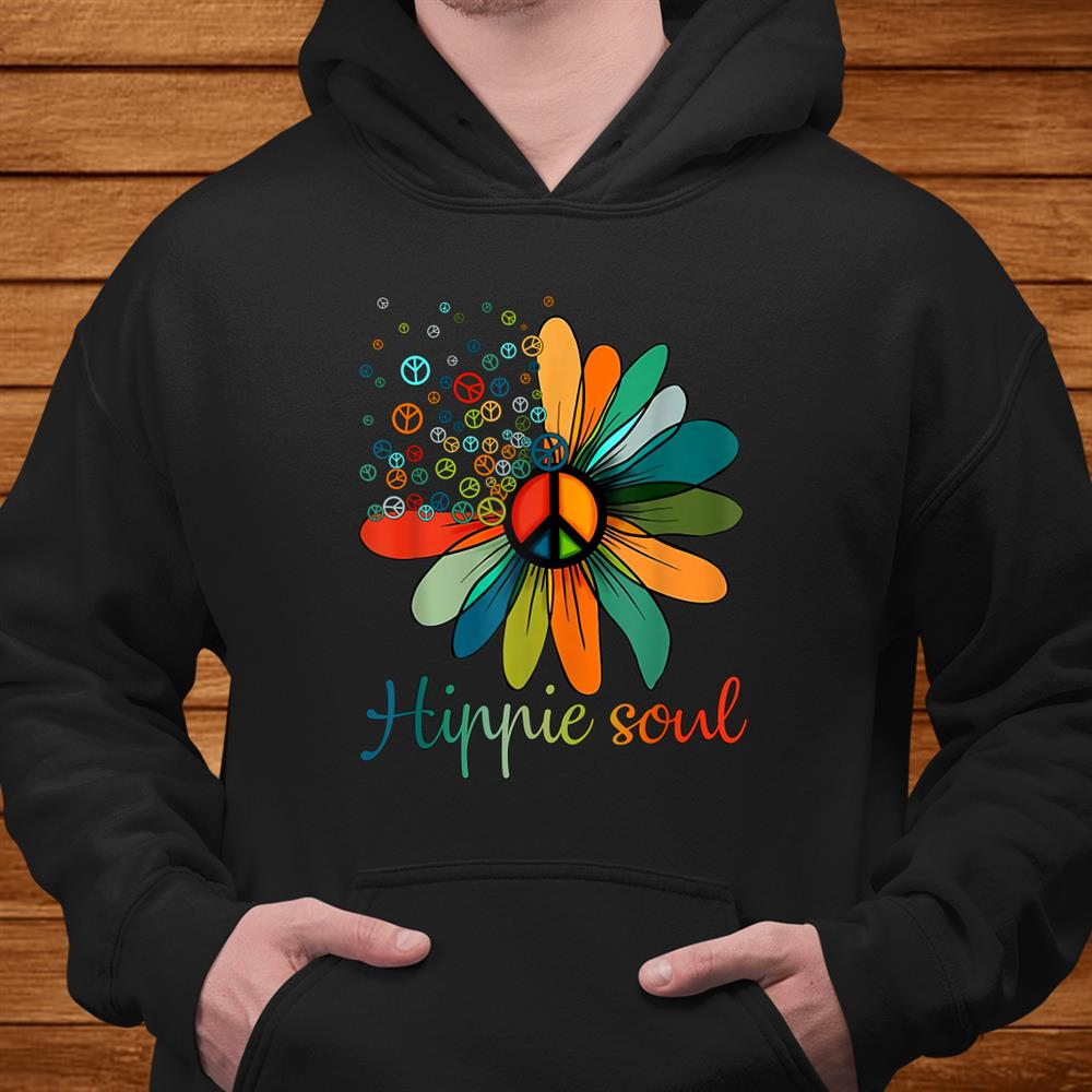 Daisy Peace Sign Hippie Soul Tshirt Flower Lovers Shirt