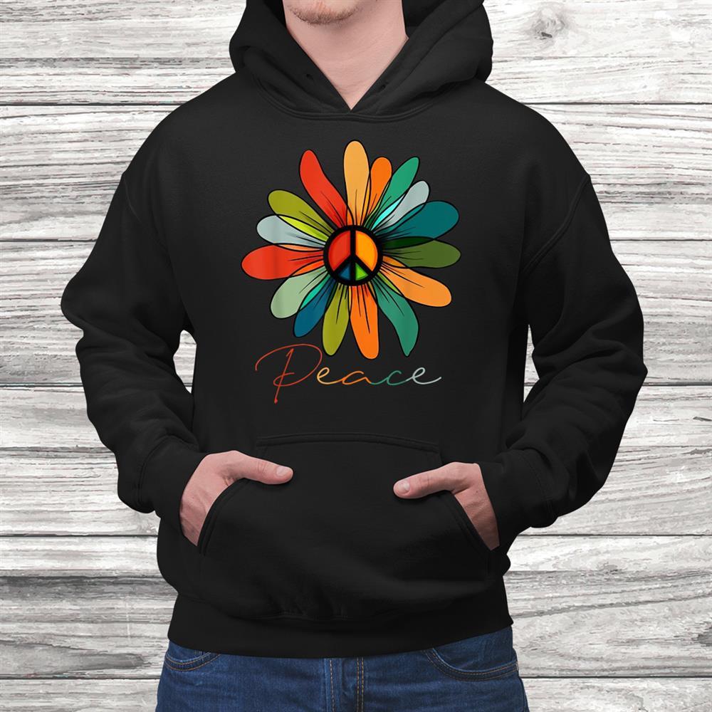Daisy Peace Sign Hippie Vintage Shirt