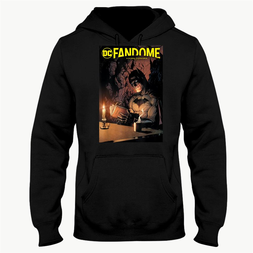 Dc Fandome Batman Candlelight Reading Comic Cover Shirt