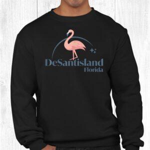 desantisland land of florida flamingo shirt 2