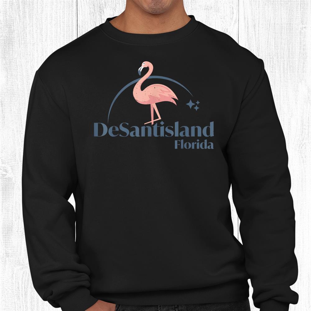 Desantisland Land Of Florida Flamingo Shirt
