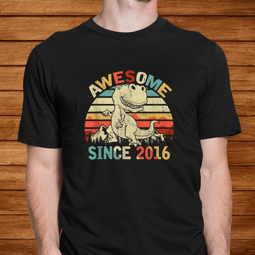 Dinosaurth Birthday Boy Shirt Gift Awesome Since016 Shirt