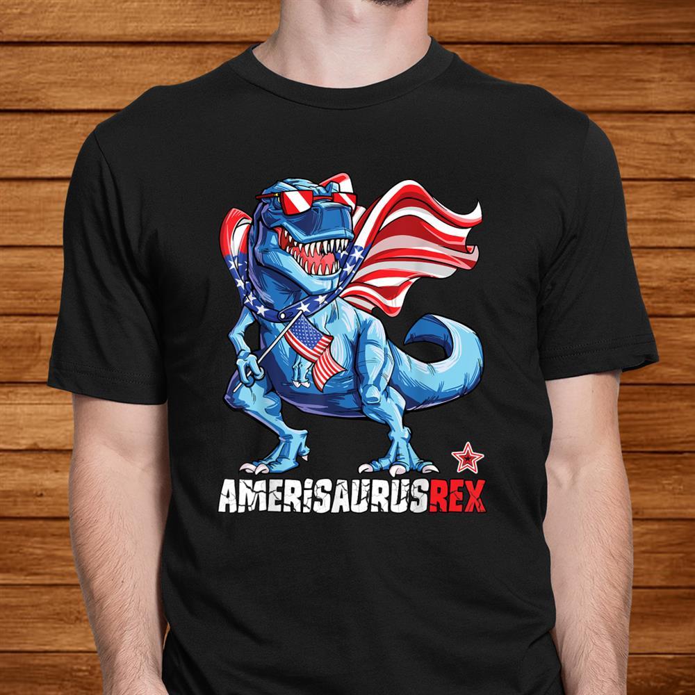 Dinosaurth Of July Shirt Kids Boys Men Amerisaurus T Rex Men