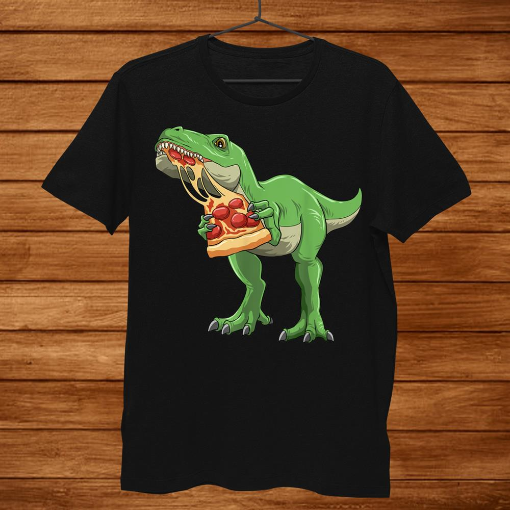 Dinosaur Eating Pizza T Rex Pizza Lovers Pizzasaurus Shirt