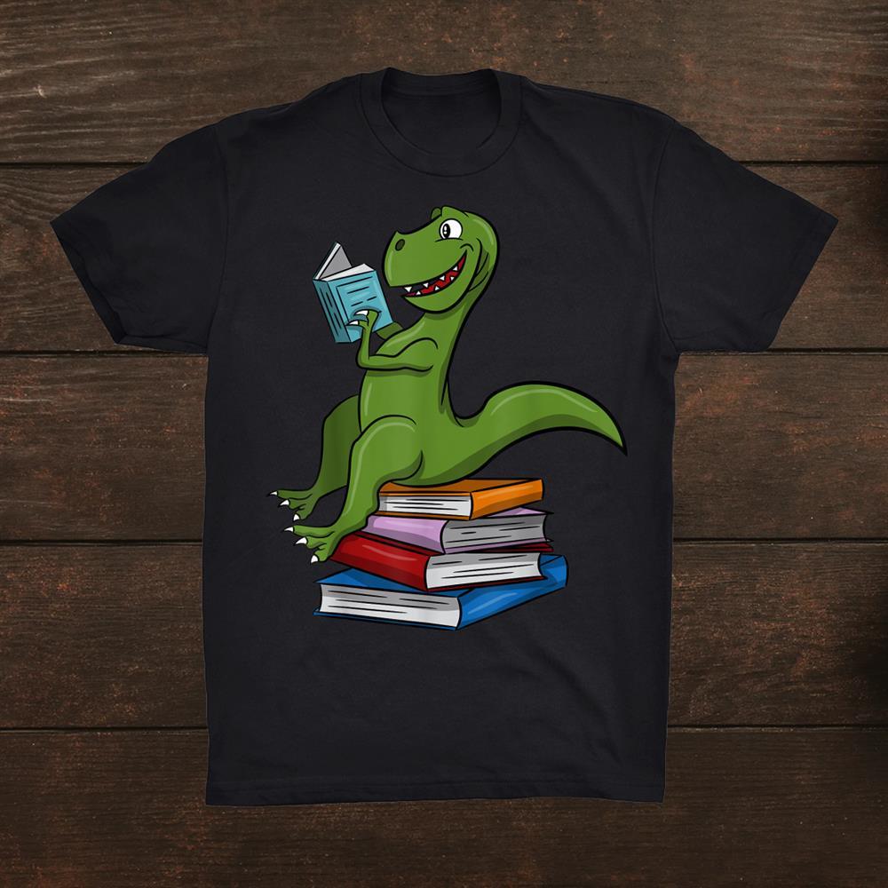 Dinosaur T Rex Dinosaur Reading Bookt Shirt