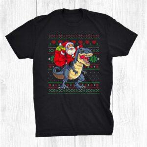 Dinosaur Ugly Christmas Santa Xmas Shirt
