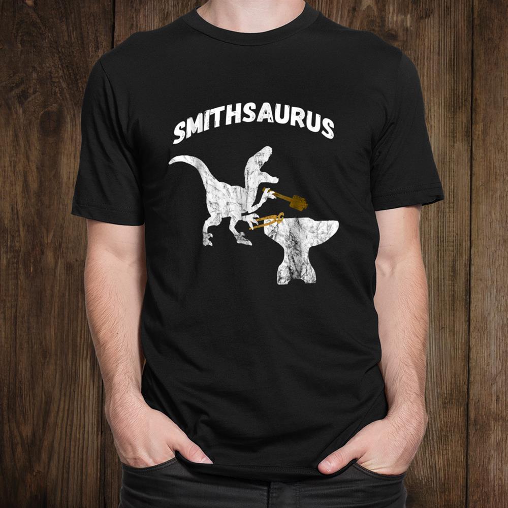 Dinosaurs Blacksmith Tongs Blacksmithing Funny  Giftst Shirt
