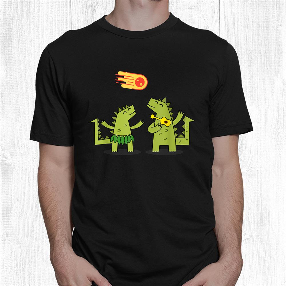 Dinosaurs In Love Happy Together Fun Design Shirt