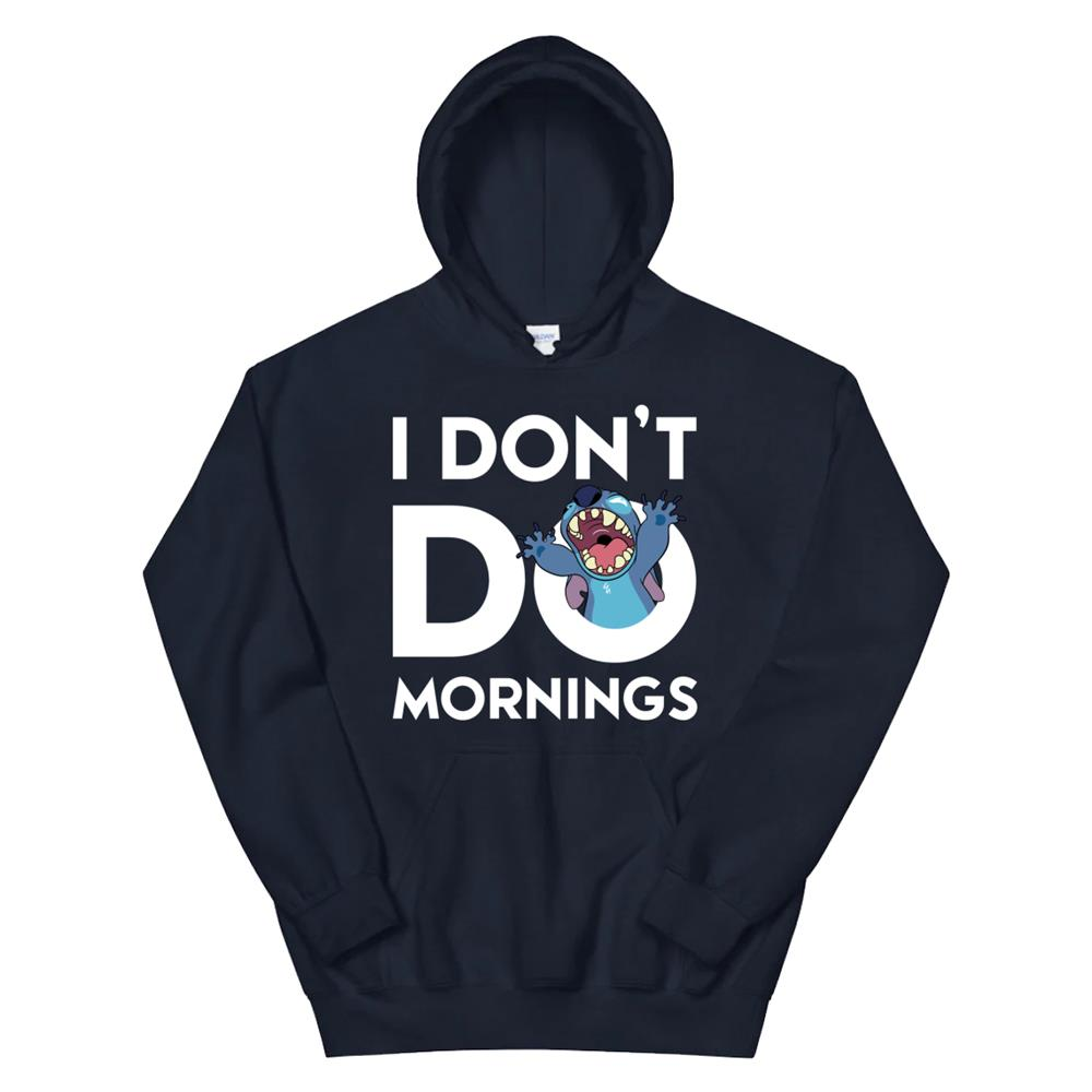 Disney Stitch Dont Do Mornings Hoodie