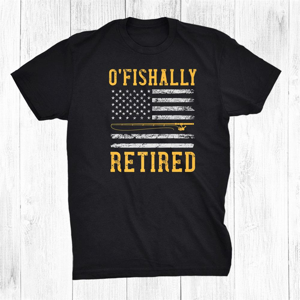 Dispatcher Fishing Retirement Usa Flag Patriotic Shirt