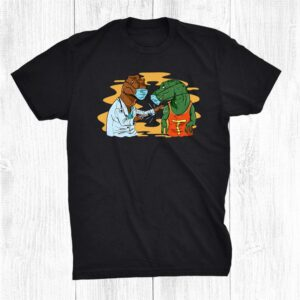 Doctor T Rex Giving A Vaccine Funny Dinosaur Shirt