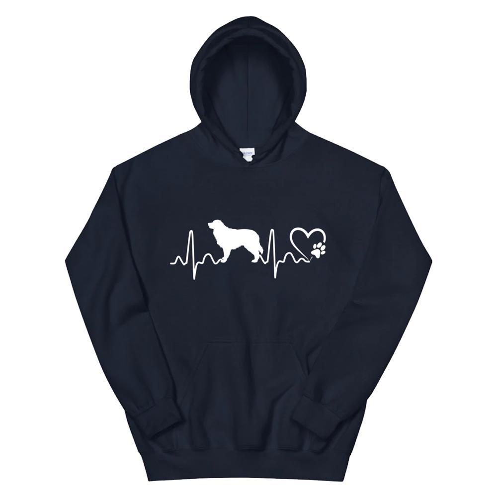 Dogs65 Heartbeat Australian Shepherd Dog Rescue Lifeline Hoodie